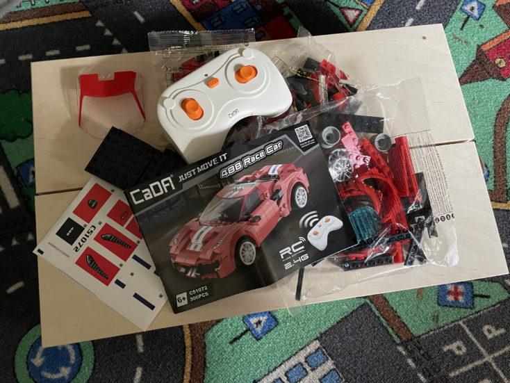 CaDA RC Auto rot Inhalt 1