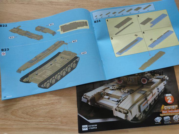 CaDA T90 Panzer C61003W Anleitung