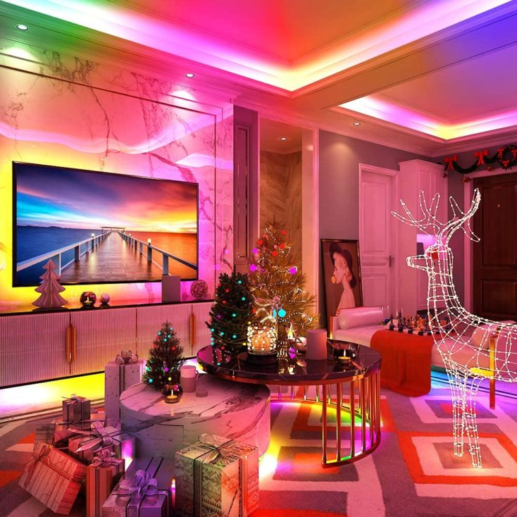 Govee RGBIC LED Strip Wohnzimmer