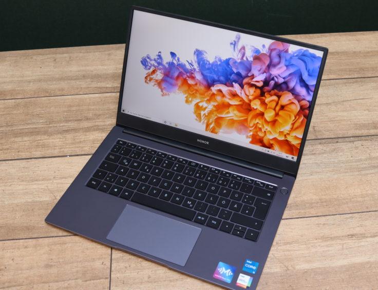 Honor MagicBook 2021 Notebook von oben