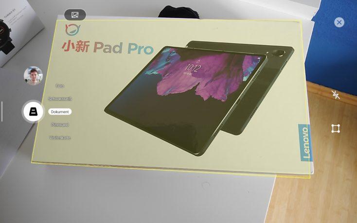 Lenovo XiaoXin Pad Pro Dokumenten Scanner