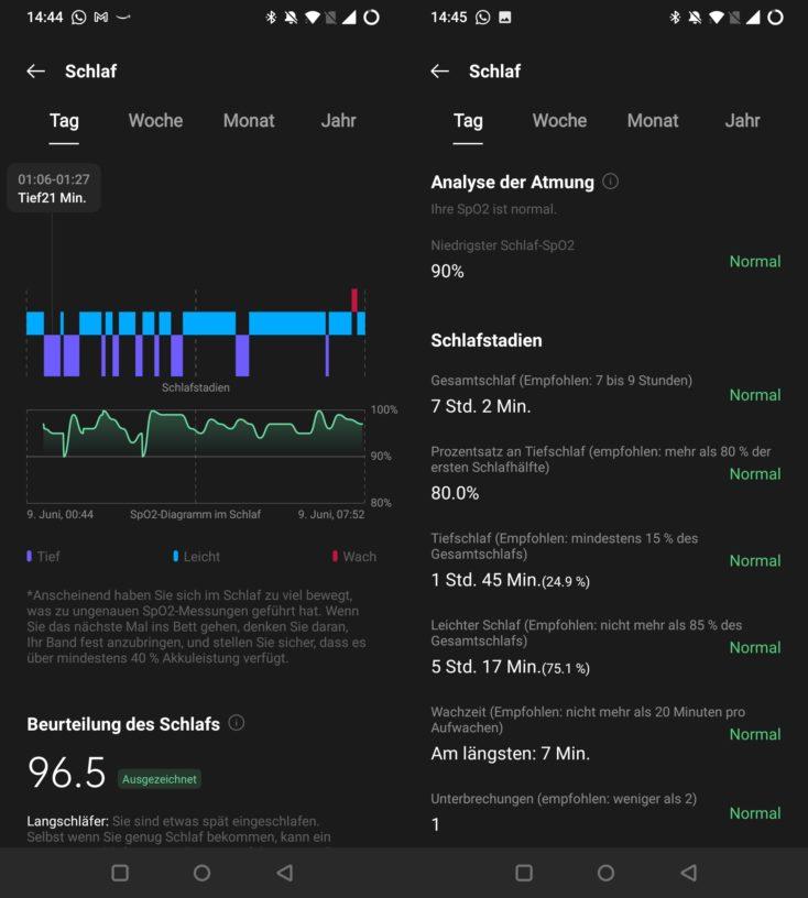 OnePlus Watch Schlaftracking