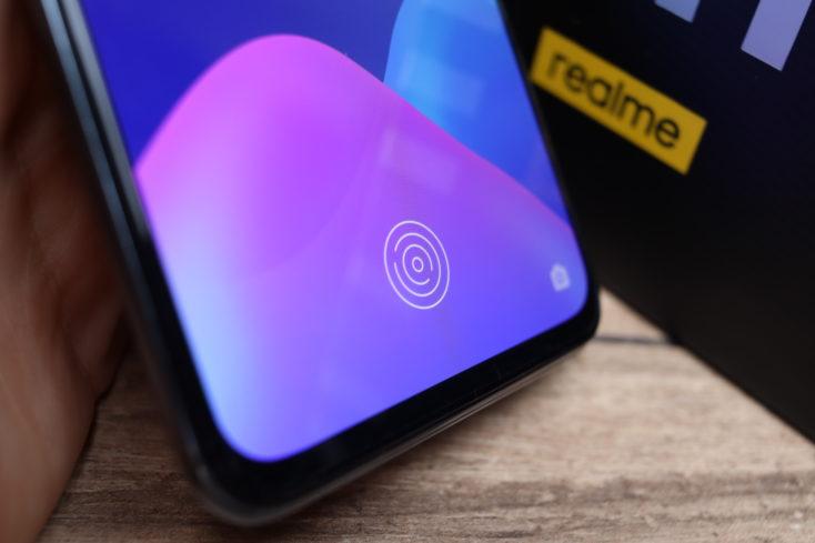 Realme GT Fingerabdrucksensor im Display