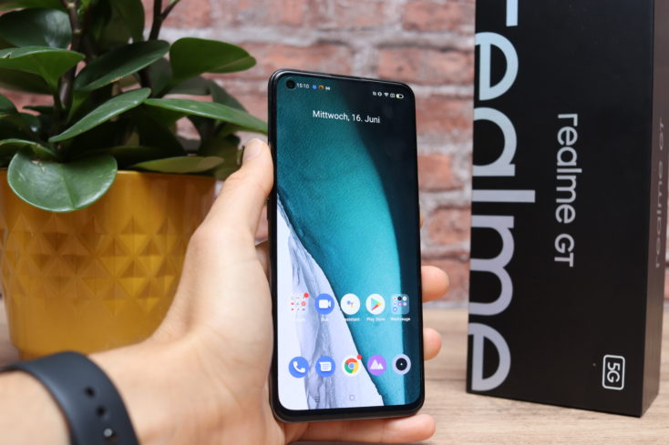 Realme GT Smartphone in Hand