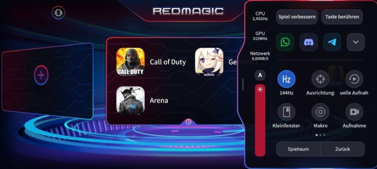 RedMagic 6R Game Space