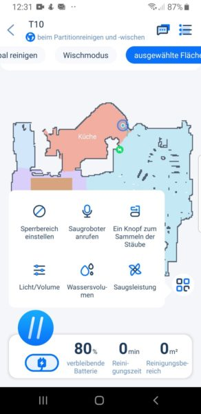 Ultenic T10 Saugroboter App Funktionen