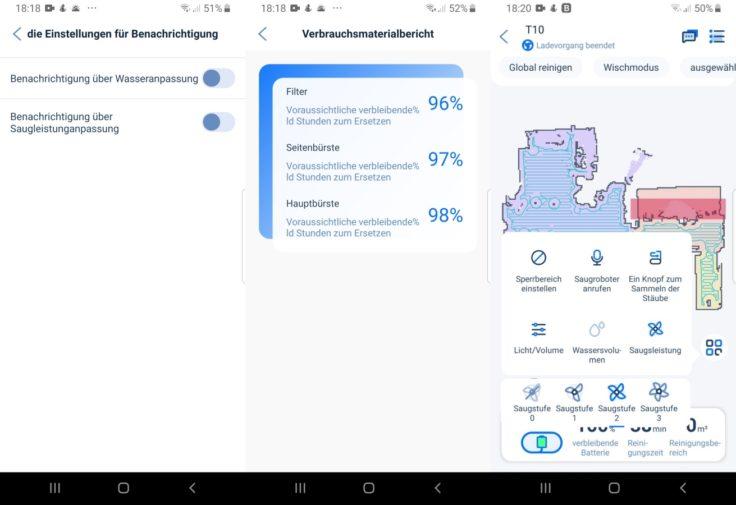 Ultenic T10 Saugroboter App Steuerung Funktionen Einstellungen