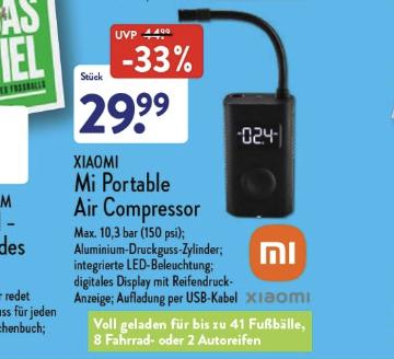 Xiaomi Luftkompressor ALDI NORD