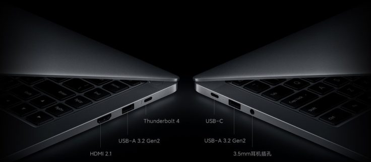 Xiaomi Notebook Pro X 15 Anschluesse