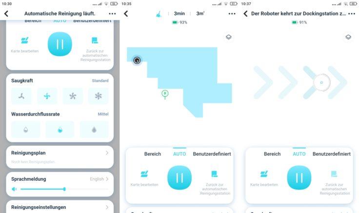 Yeedi Mop Station Wischroboter App Einstellungen Interface Mapping