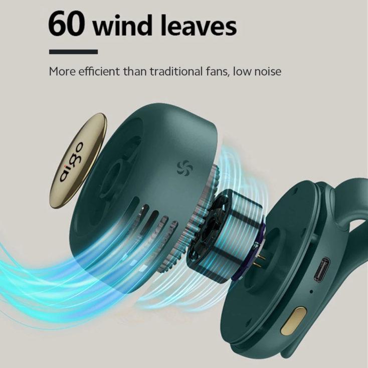 Mini-Clip-Ventilator 60 Lüfterflügel