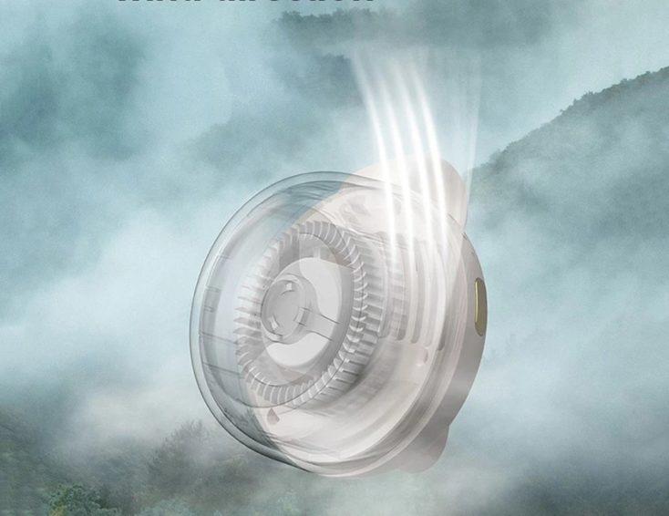 Mini-Clip-Ventilator Windeinstellung