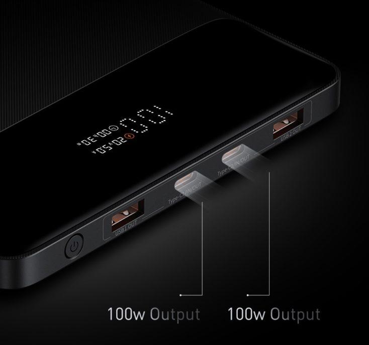 Baseus 100W USB-C Powerbank Ports