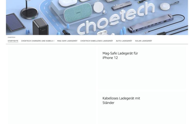 Choetech Shop Produkte