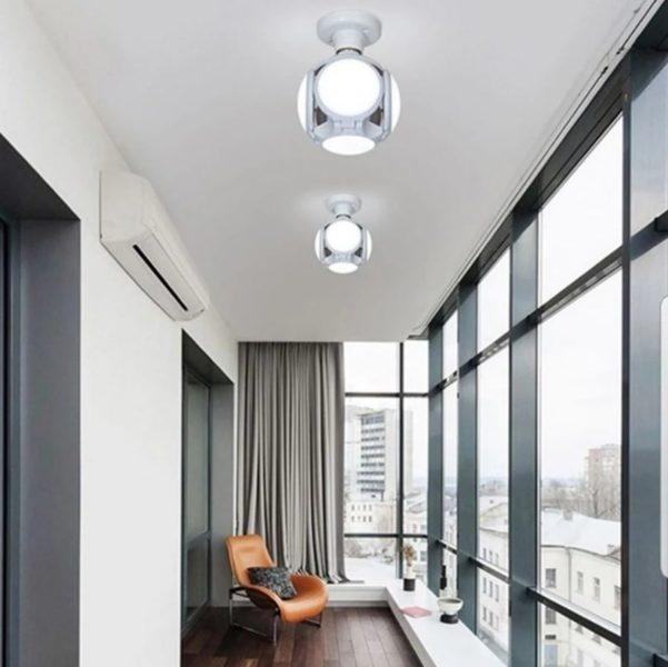 Faltbare LED Deckenleuchte Wohnzimmer