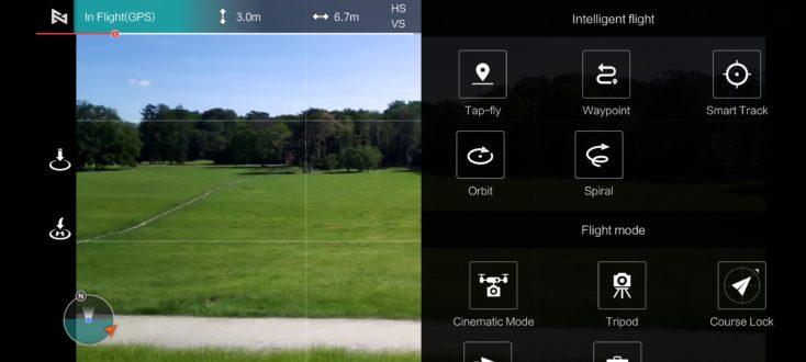 Fimi X8 Mini App Smart Modes