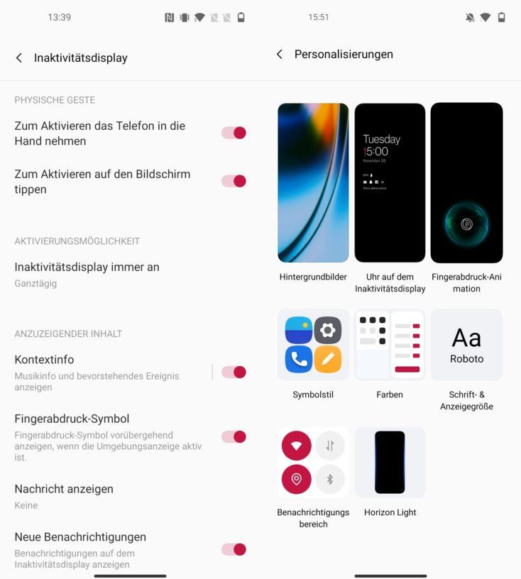 OnePlus Nord 2 5G Always On Display