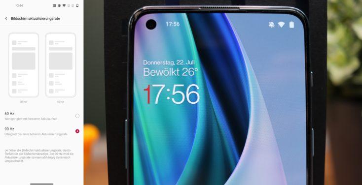 OnePlus Nord 2 5G Display Aktualisierungsrate