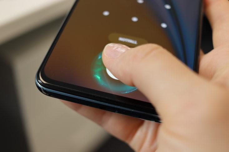 OnePlus Nord 2 5G Fingerabdrucksensor