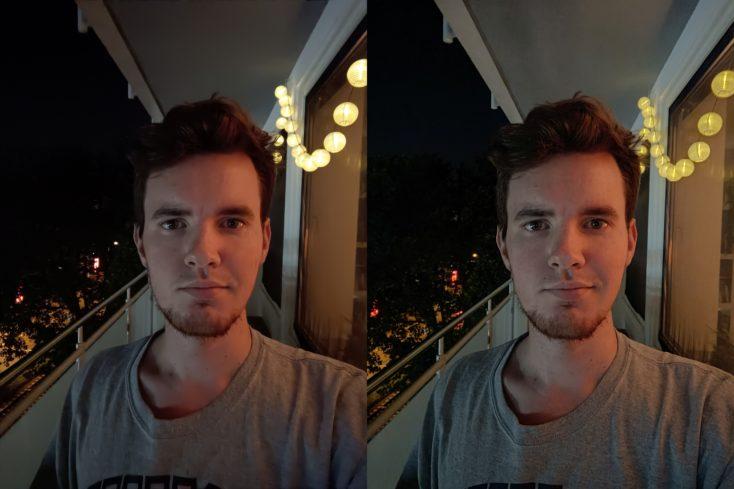 OnePlus Nord 2 5G Nachtmodus Selfie