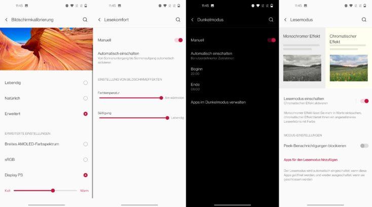 OnePlus Nord CE 5G Display Einstellung