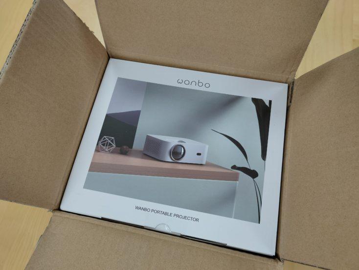 Wanbo X1 Beamer Verpackung 1