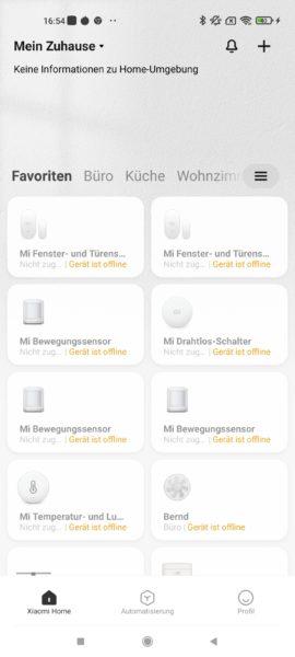 Xiaomi Mi Home App Steuerzentrale