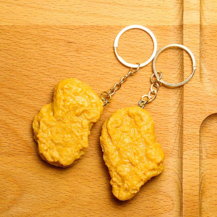 Chicken-Nugget-Schlüsselanhänger