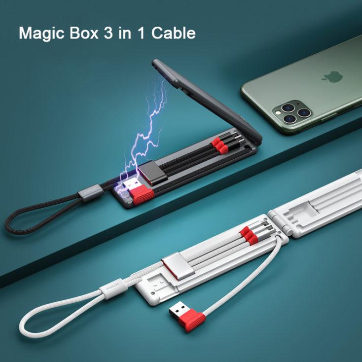 Magic Box 3-in-1 Ladekabel-Etui Design