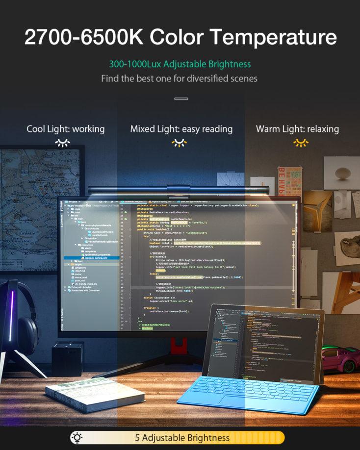 BlitzWolf BW-CML2 RGB Monitorlampe Einstellungen