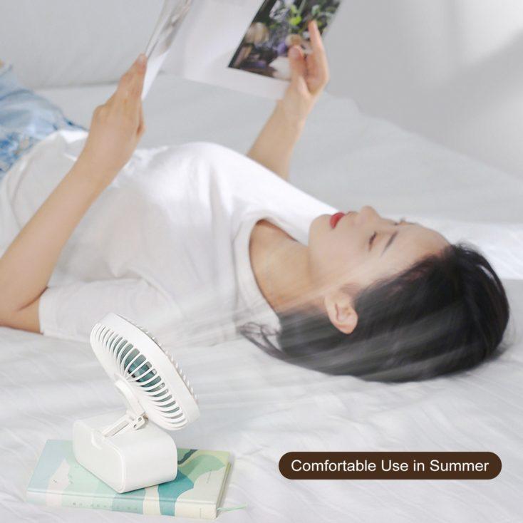 Multifunktionsventilator Bett Frau Lesen