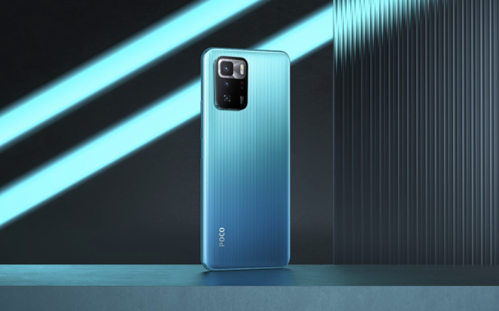POCO X3 GT Smartphone Rueckseite Blau