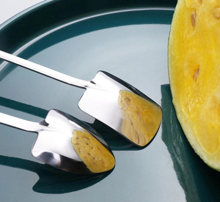 Schaufelloeffel Silber Tablet Honigmelone