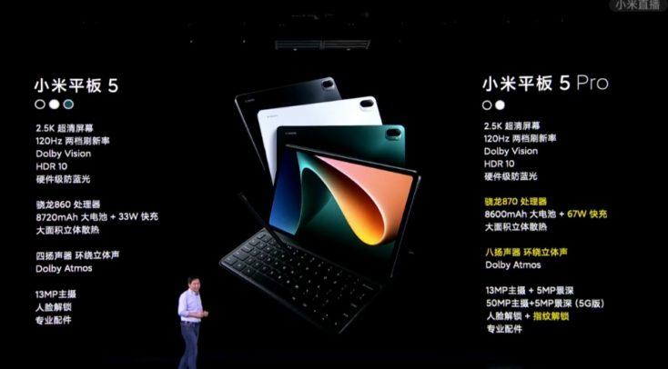 Xiaomi Mi Pad 5 und Pad 5 Pro Unterschiede