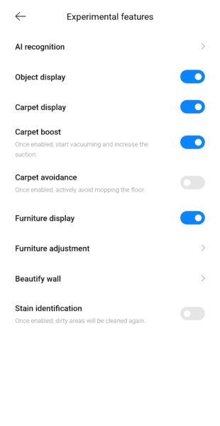Xiaomi Mijia Pro Saugroboter Ai-Einstellungen
