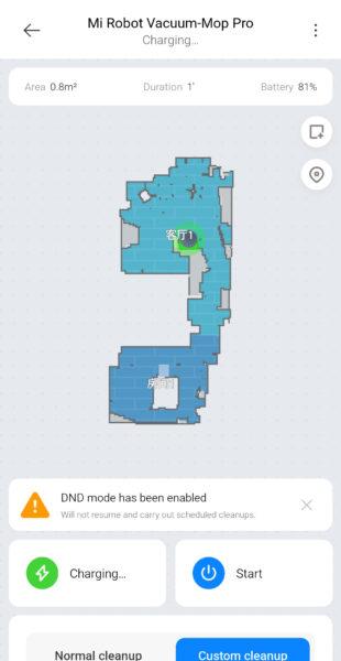 Xiaomi Mijia Pro Saugroboter Karte