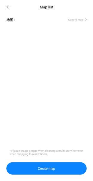 Xiaomi Mijia Pro Saugroboter Kartenübersicht