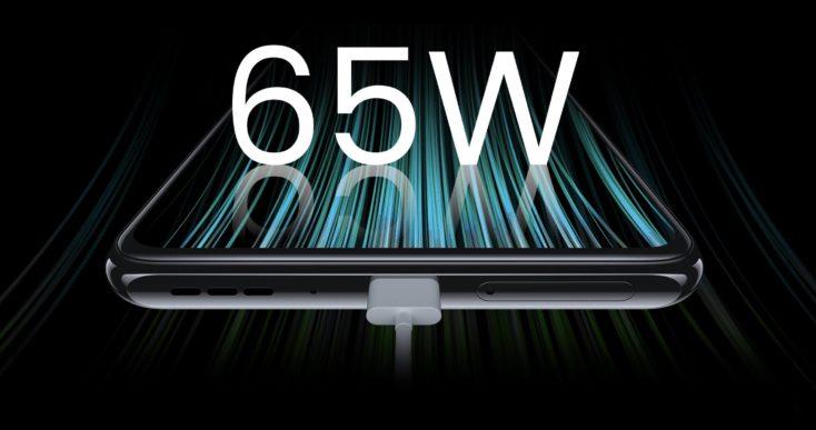 ZTE Axon 30 5G Smartphone 65W Laden