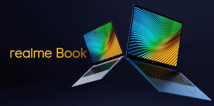 realme Book Notebook Produktbild mit Schriftzug