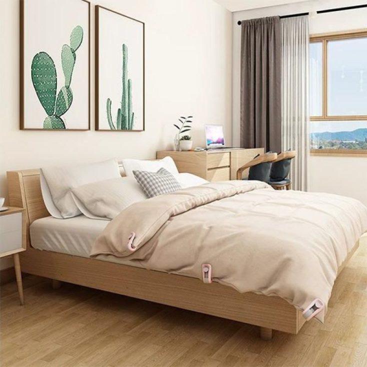 Bettdeckenclips an Bettdecke