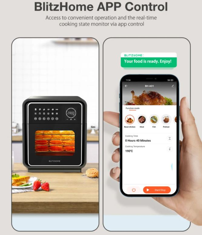 BlitzHome BH-A01 Smart Air Fryer Oven App