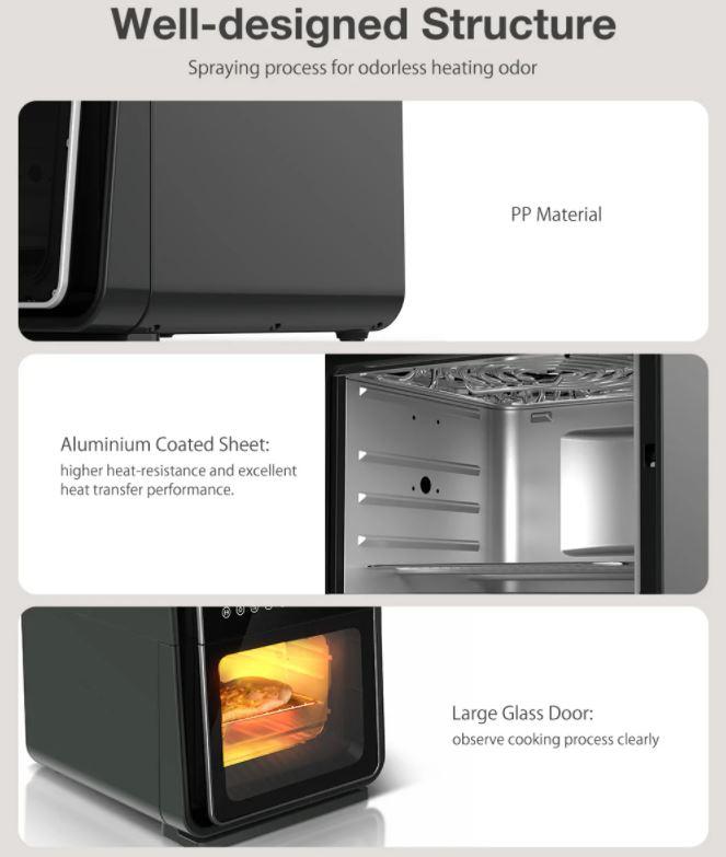 BlitzHome BH-A01 Smart Air Fryer Oven Design