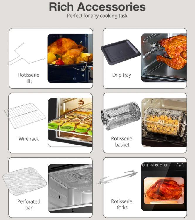 BlitzHome BH-A01 Smart Air Fryer Oven Zubehoer