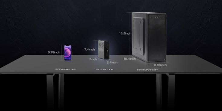 CHUWI RZBOX Computer Groeße