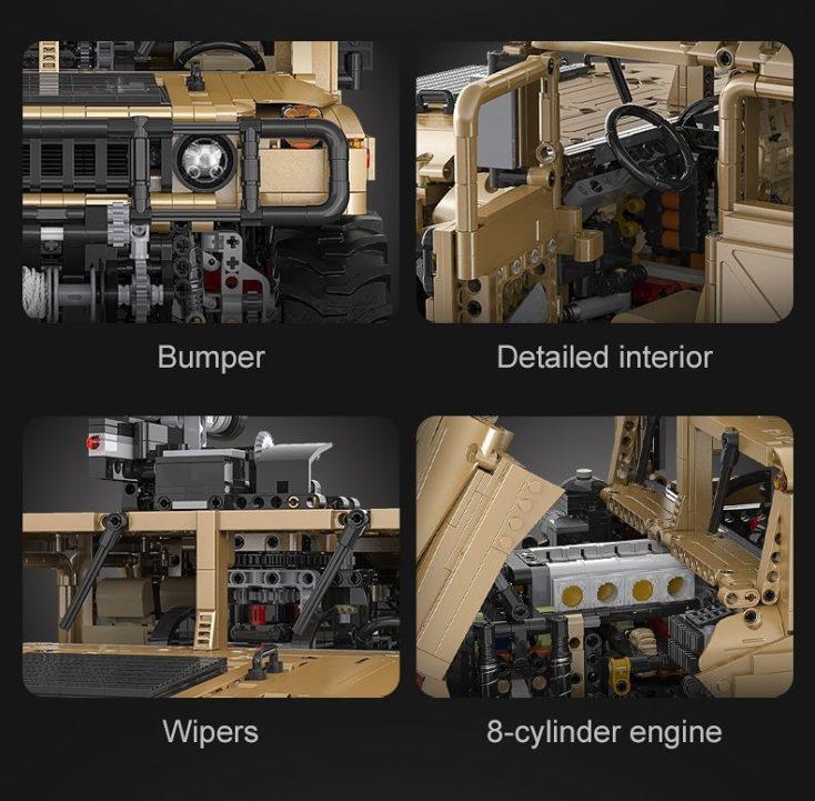 CaDA C61036W Humvee Details