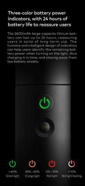 HOTO LED Taschenlampe Batterie