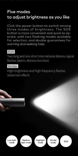 HOTO LED Taschenlampe Leuchtmodi