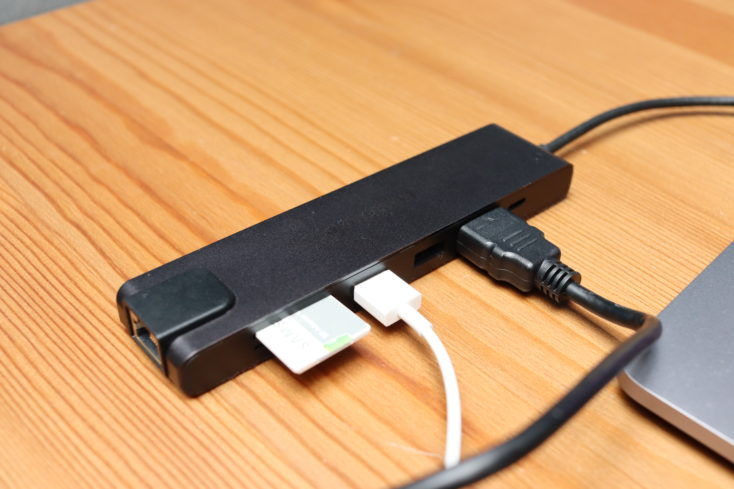 Lemorele 7-in-1 USB-C Hub Ports belegt