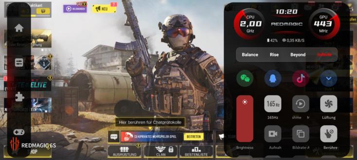 RedMagic 6S Pro CoD Mobile Settings