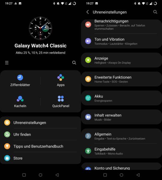 Samsung Galaxy Watch 4 Galaxy Wearable App